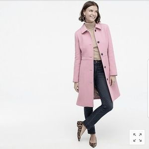 J. Crew Blush Pink Wool Coat